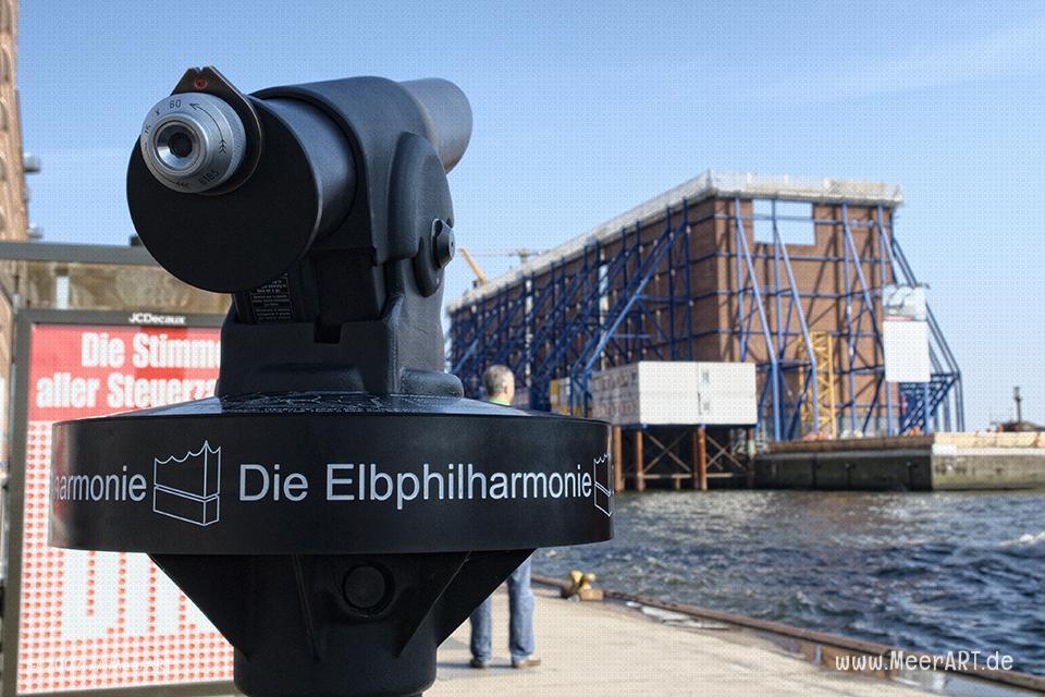 Die Baustelle der Elbphilharmonie in Hamburg // Foto: MeerART