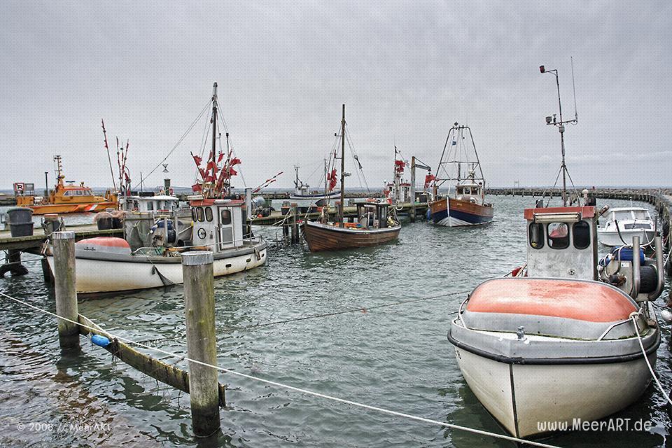 Fischerboote im Hafen auf der insel Poel // Foto: MeerART