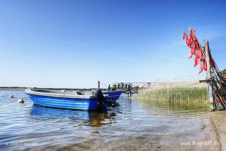 Fischerboote in einem kleinen Hafen bei Prerow // Foto: MeerART