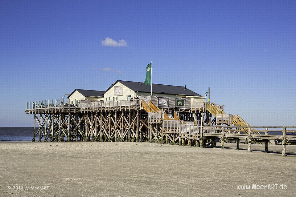 Die Strandbar 54° Nord am Strand von St. Peter-Ording // Foto: MeerART