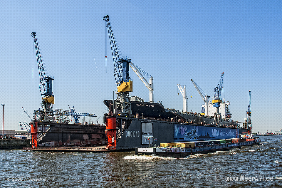"Das Containerschiff ""CARLOTTA START"" - IMO 9210050 // Foto: MeerART"