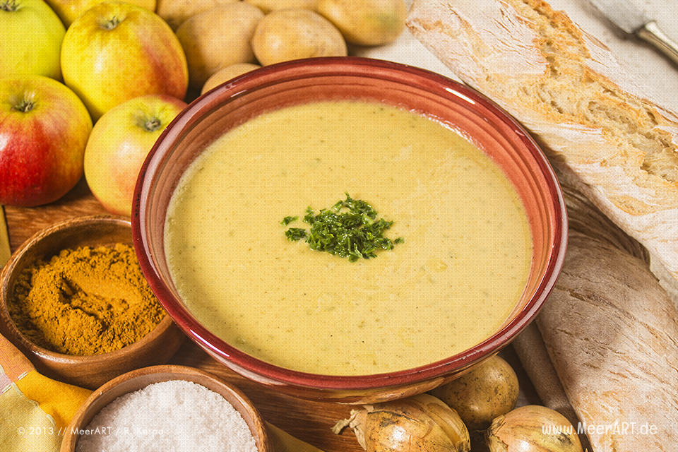 rezept tipp apfel lauch suppe mit curry meerart. Black Bedroom Furniture Sets. Home Design Ideas