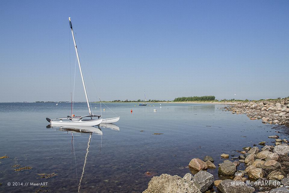 Strandabschnitt beim Campingplatz Strukkamphuk auf der Ostseeinsel Fehmarn // Foto: MeerART