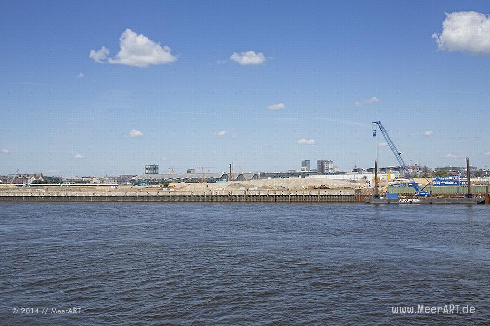 HafenCity: Das Quartier Elbbrücken - Geschäfts- und Wohnquartier am östlichen Eingang der HafenCity // Foto: MeerART