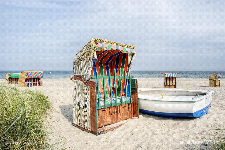 Strandkörbe an der Ostsee in Schönberg/Kalifornien // Foto: MeerART