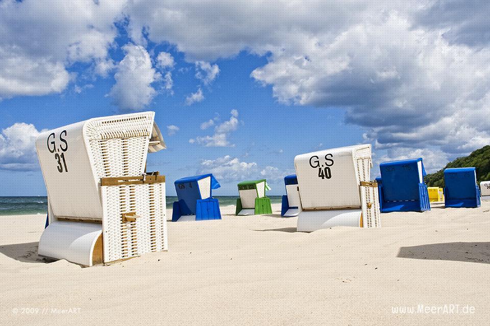Strandabschnitt mit Strandkörben an der Ostsee in Göhren // Foto: MeerART