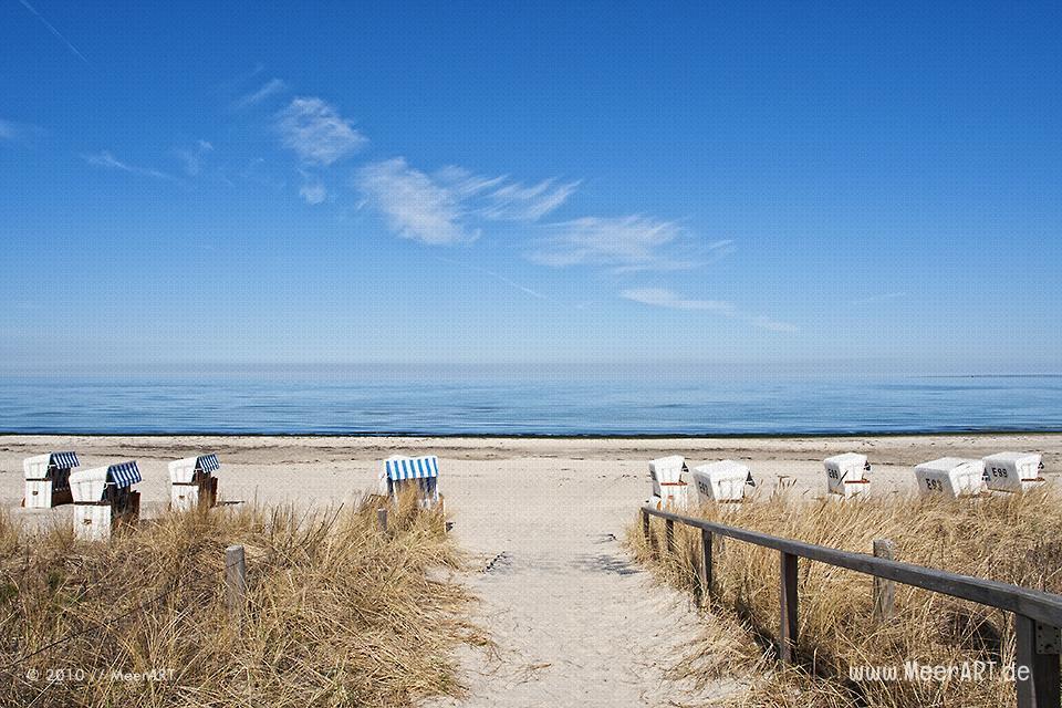 Strandkörbe am Ostseestrand von Boltenhagen // Foto: MeerART