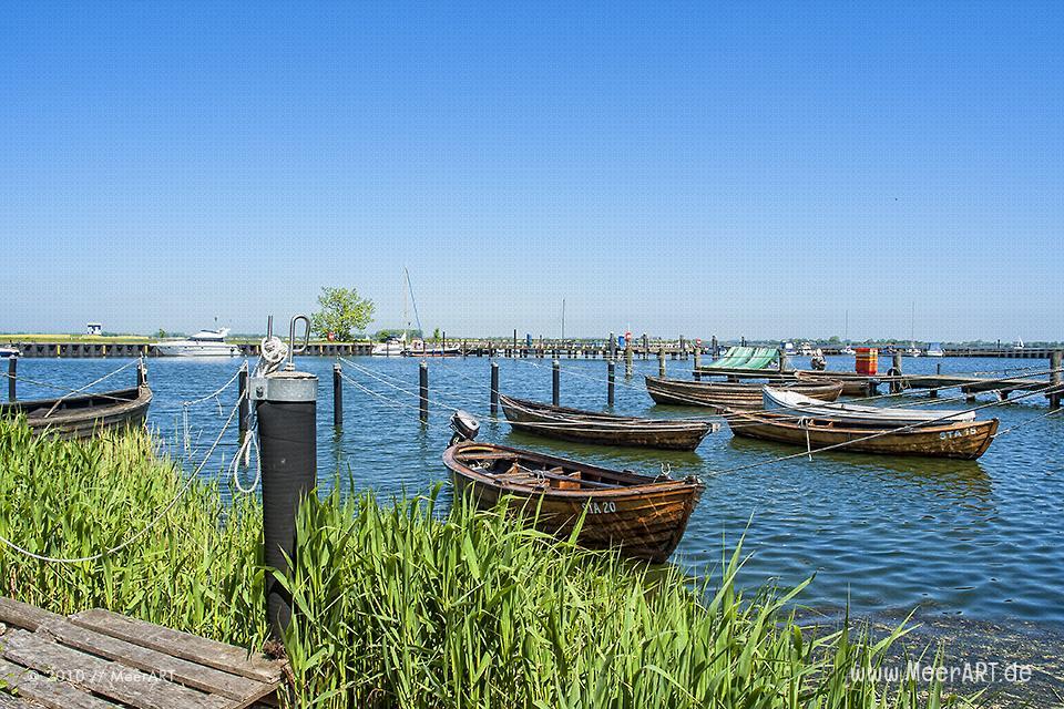 Fischerboote in einem kleinen Hafen von Stahlbrode // Foto: MeerART
