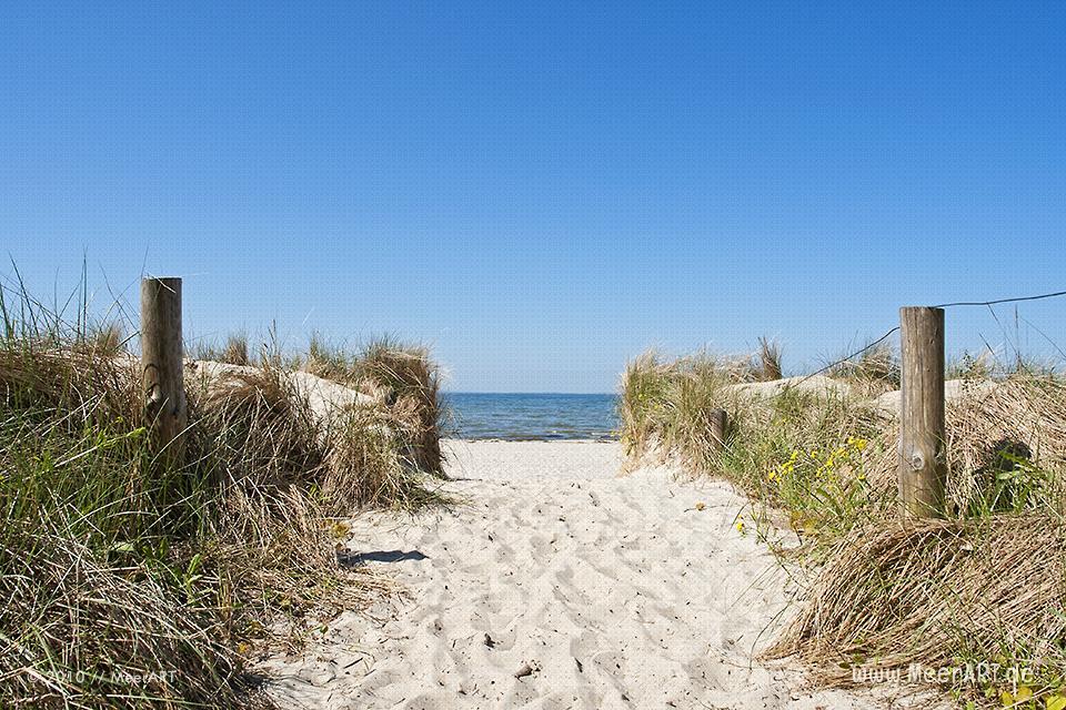 Zugang zum Strand in Lubmin // Foto: MeerART