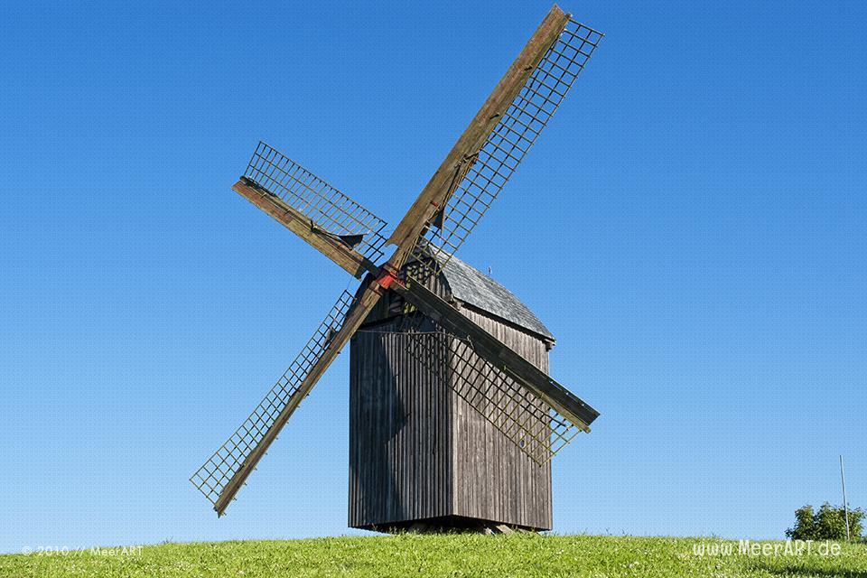 Die alte Bockwindmühle von Pudagla auf Insel Usedom // Foto: MeerART