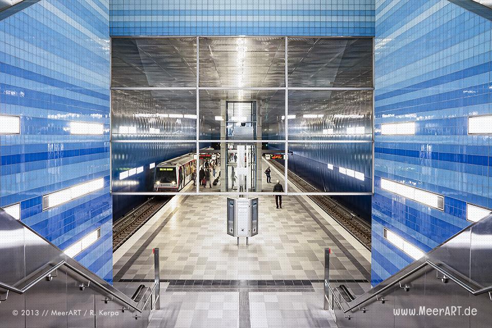U-Bahnhof Überseequartier der Linie U4 in der Hamburger HafenCity // Foto: R. Kerpa