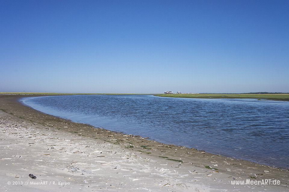 Ein ablaufender Priel am Strand von St. Peter-Ording // Foto: R. Kerpa