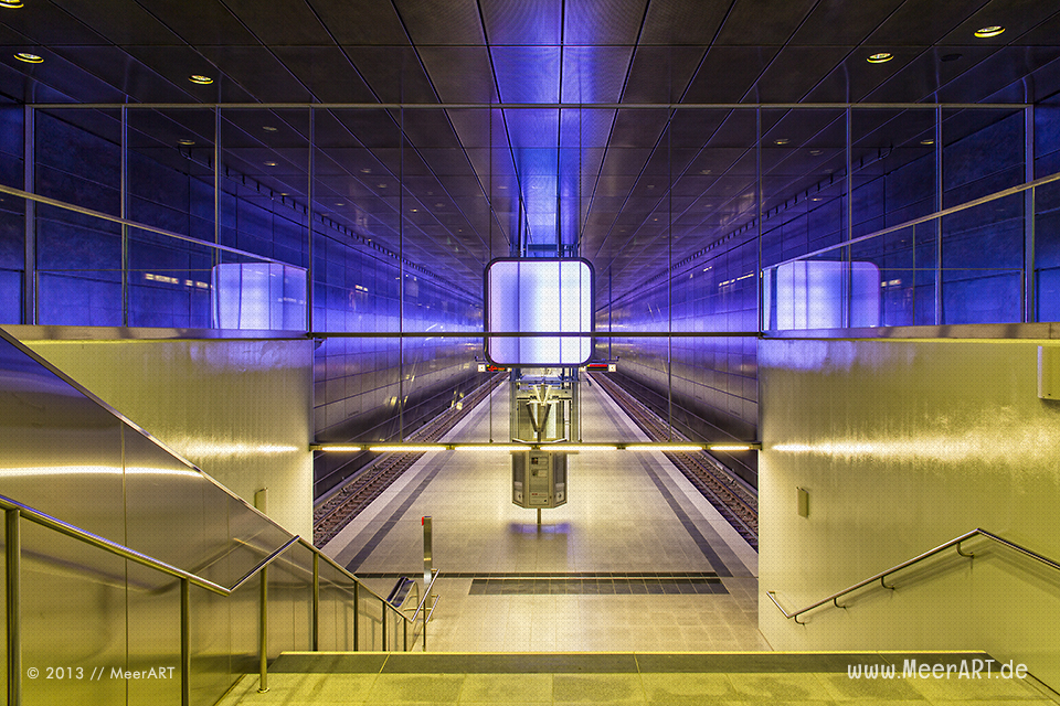 U-Bahnstation Überseequartier der Linie U4 in der Hamburger HafenCity // Foto: MeerART