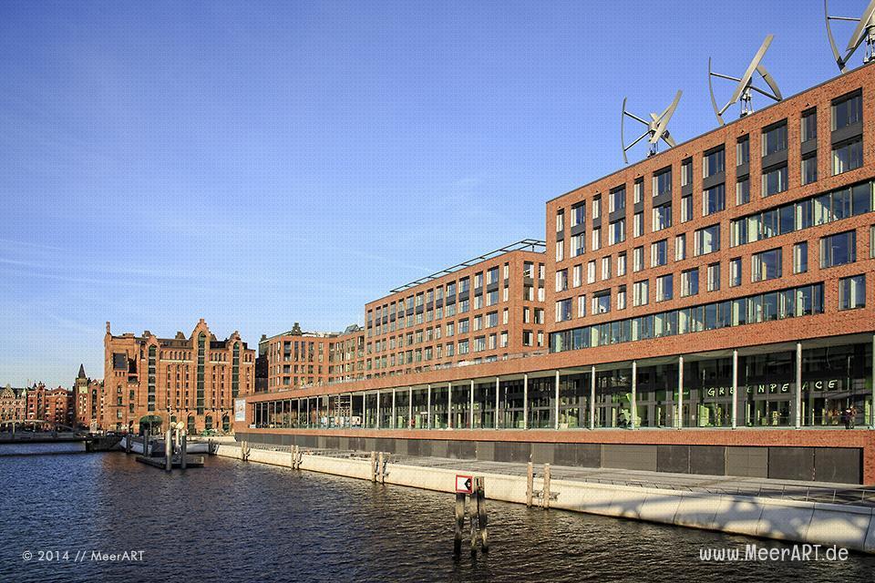 Geschäftsgebäude und das Maritime Museum am Brooktorhafen // Foto: MeerART