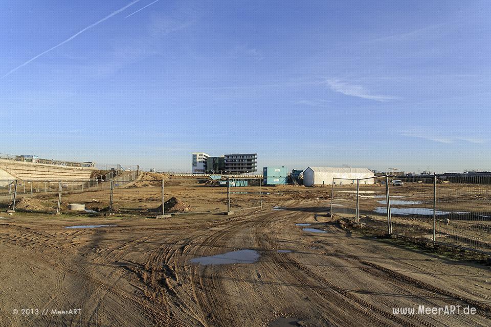Baustelle am Überseequartier in der HafenCity von Hamburg // Foto: MeerART