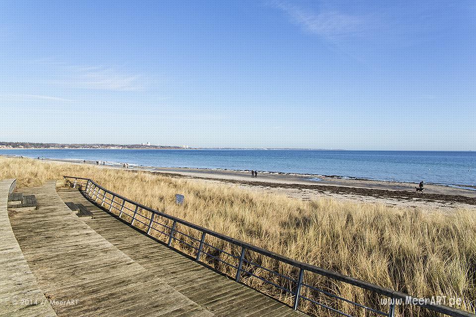 Strandabschnitt im Februar 2014 an der Ostseeküste bei Scharbeutz // Foto: MeerART