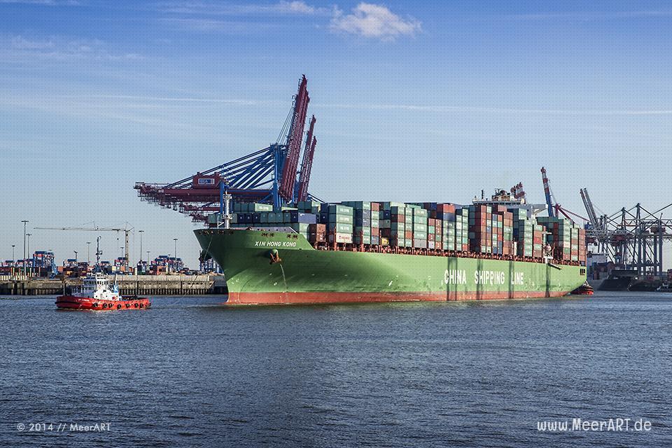 """Containerschiff """"XIN HONG KONG"""" - IMO 9314222 // Foto: MeerART"""