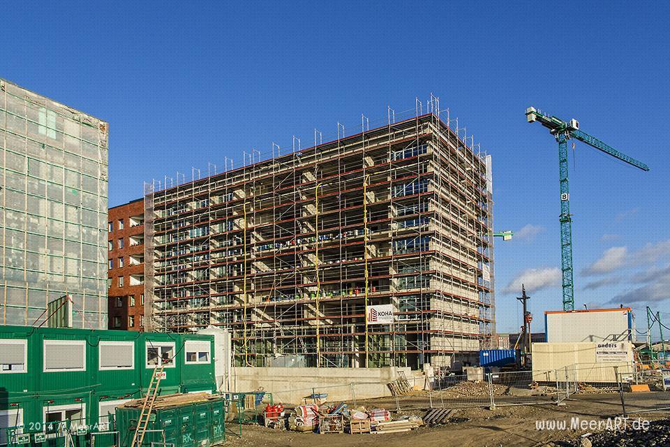 Baustelle im Elbtorquartier in der HafenCity von Hamburg // Foto: MeerART