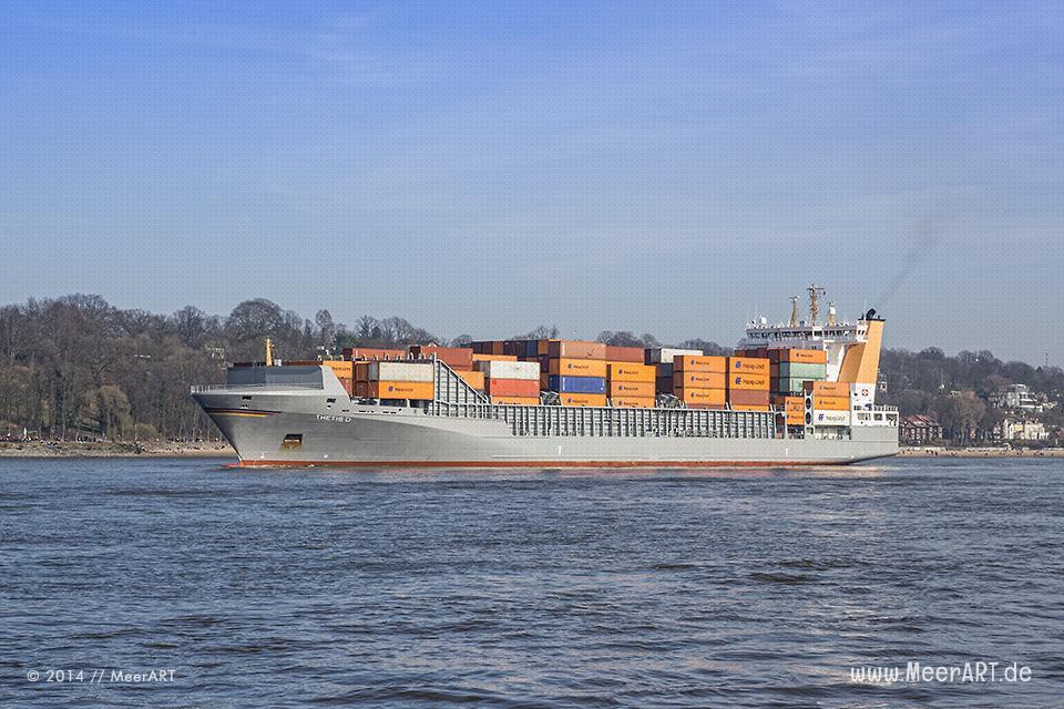 """Feederschiff """"THETIS D"""" - IMO 9372274 // Foto: MeerART"""