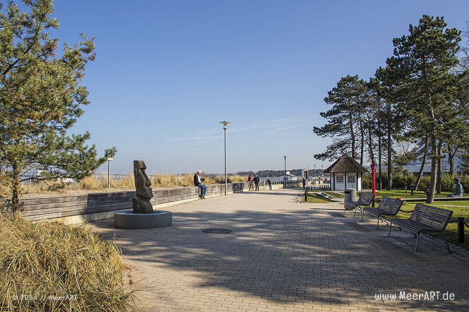 Menschen genießen das schöne Wetter an der Ostsee