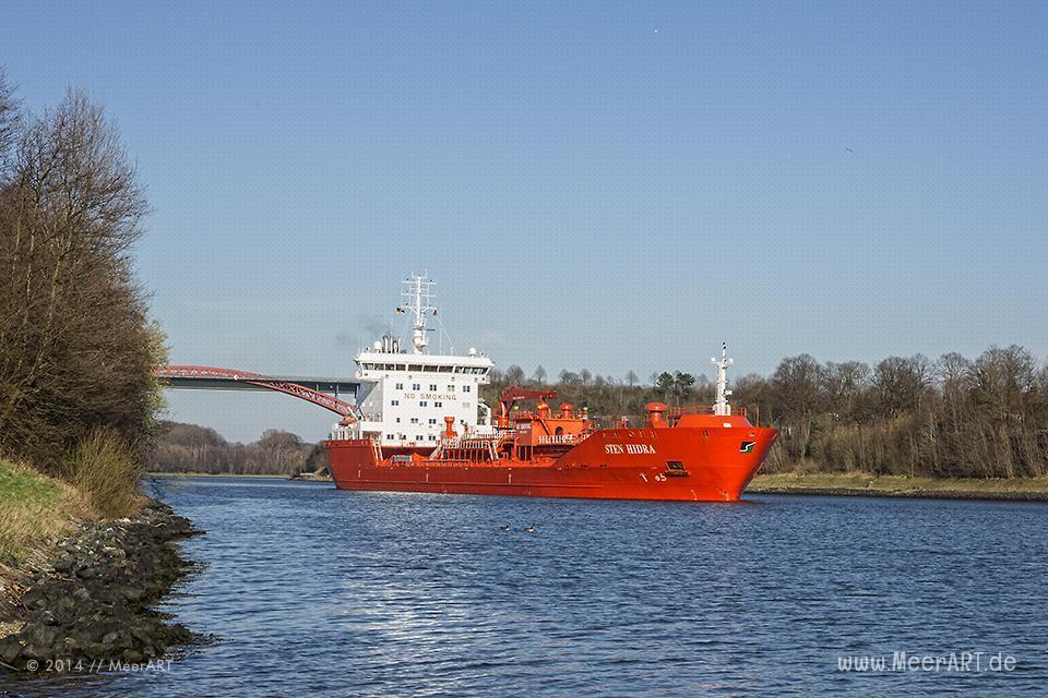 "Das Tankschiff ""STEN HIDRA"" - IMO 9358931 // Foto: MeerART"