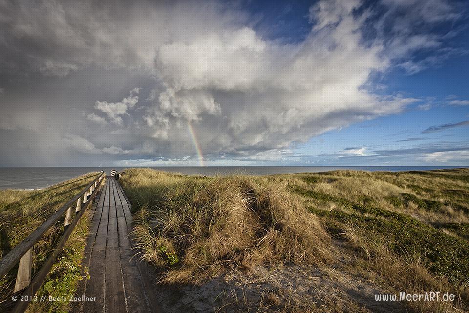 Regenbogen über der Sylter Nordseeküste // Foto: Beate Zoellner