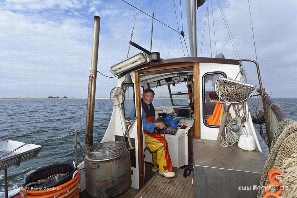 Der letzte Sylter Krabbenfischer // Foto: Beate Zoellner