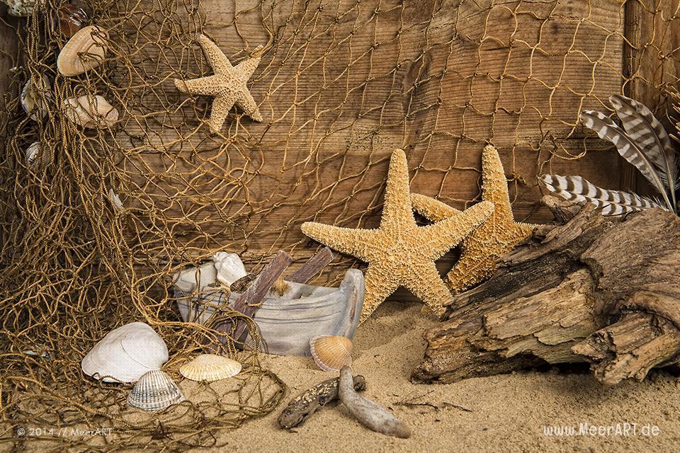 Maritime Dekorationen und Wohnaccessoires aus Strandgut von C. Kerpa // Foto: MeerART