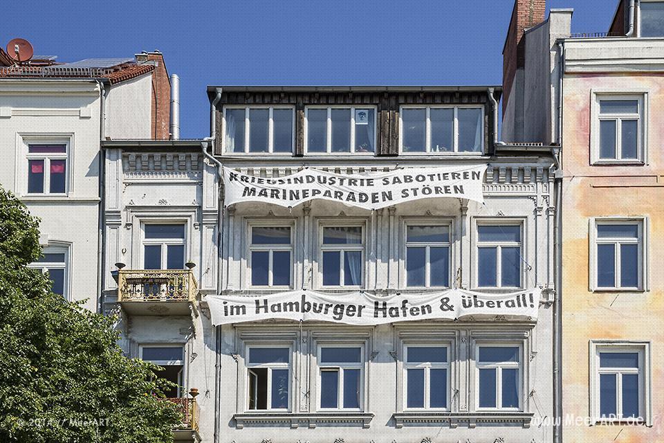 Häuser der Hafenstrasse in Hamburg // Foto: MeerART
