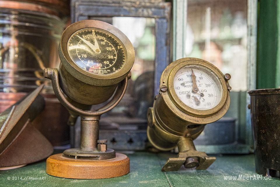 Maritime Sammlung Kaltenhof – Schiffslaternen und maritime Gegenstände // Foto: MeerART