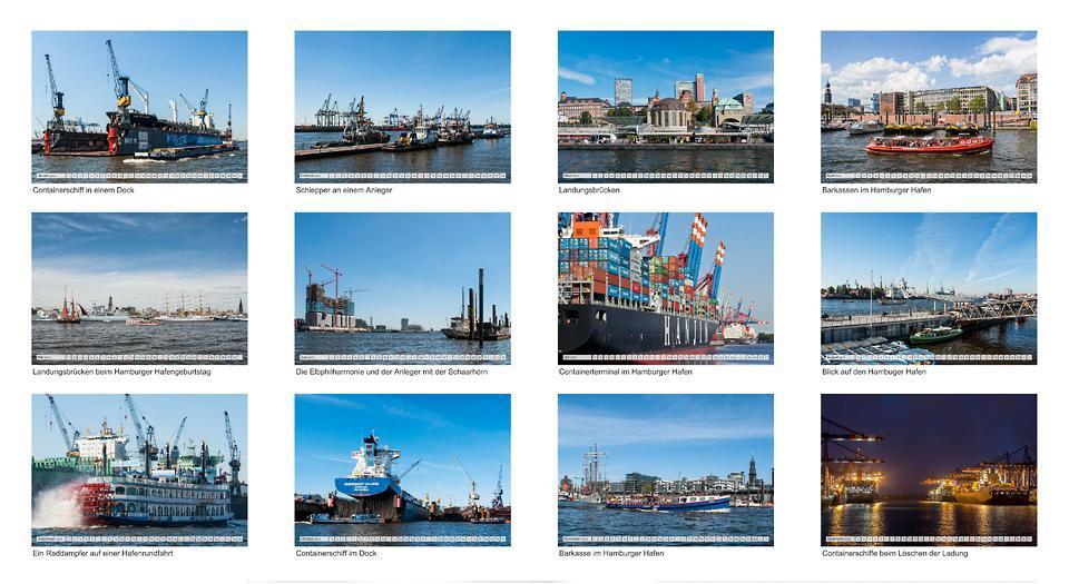 Die Freie und Hansestadt Hamburg und ihr Hafen (Monatskalender, 14 Seiten, ISBN 9783660233070, Calvendo) // Autor: R. Kerpa