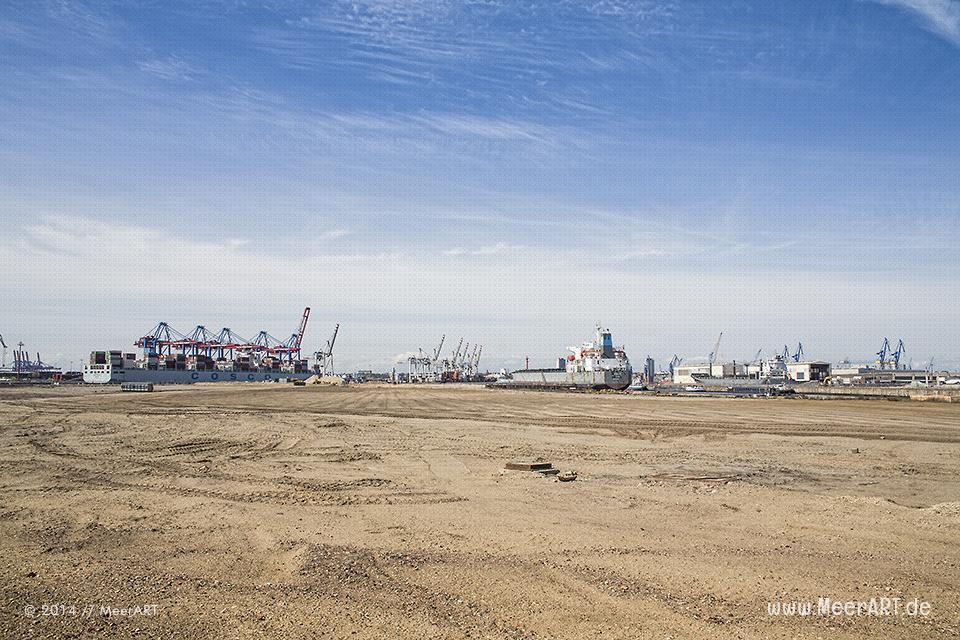 Blick auf das Baugrundstück des Ellerbrook-Terminals in Hamburg-Steinwerder // Foto: R. Kerpa
