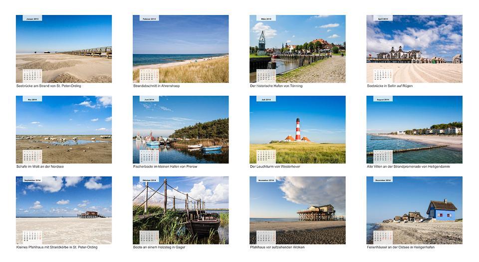 Kalender: Nord-Ostsee Impressionen