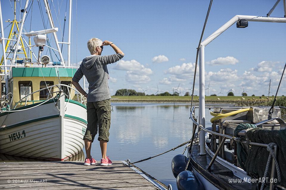 Impressionen aus dem idyllischen Neuenfelder Hafen in Dithmarschen // Foto: MeerART
