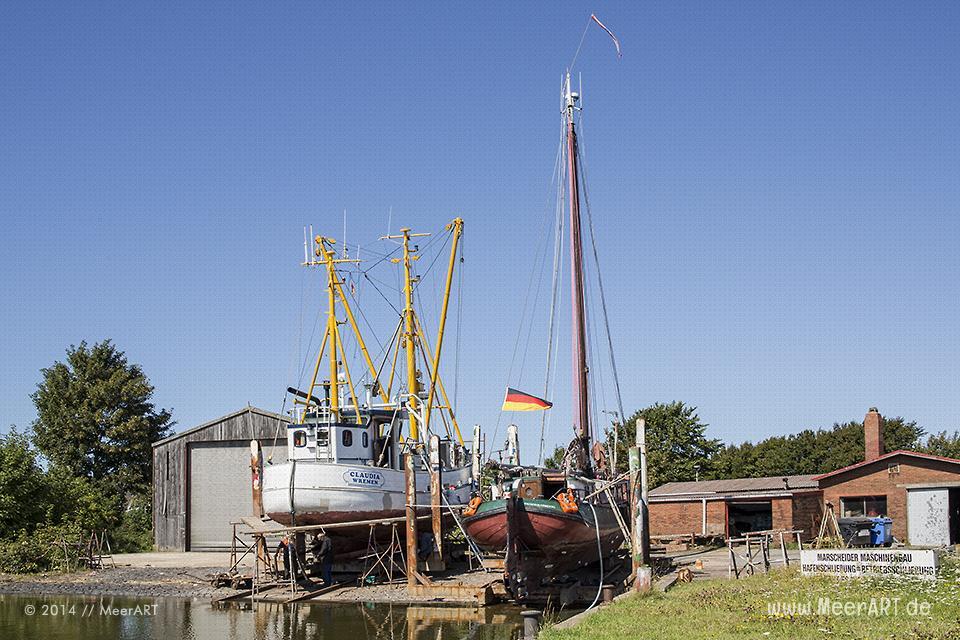 Impressionen aus dem Fischereihafen in Friedrichskoog im Kreis Dithmarschen // Foto: MeerART