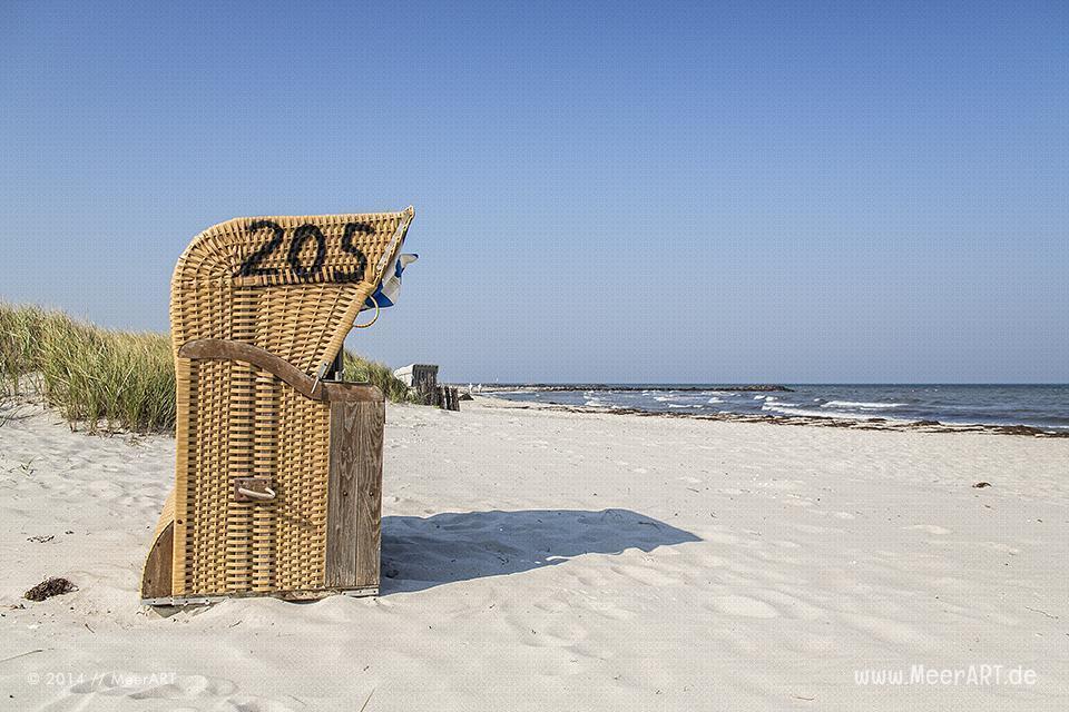 Strandkörbe an einem Strandabschnitt an der Ostsee in Schönberg-Brasilien // Foto: R. Kerpa