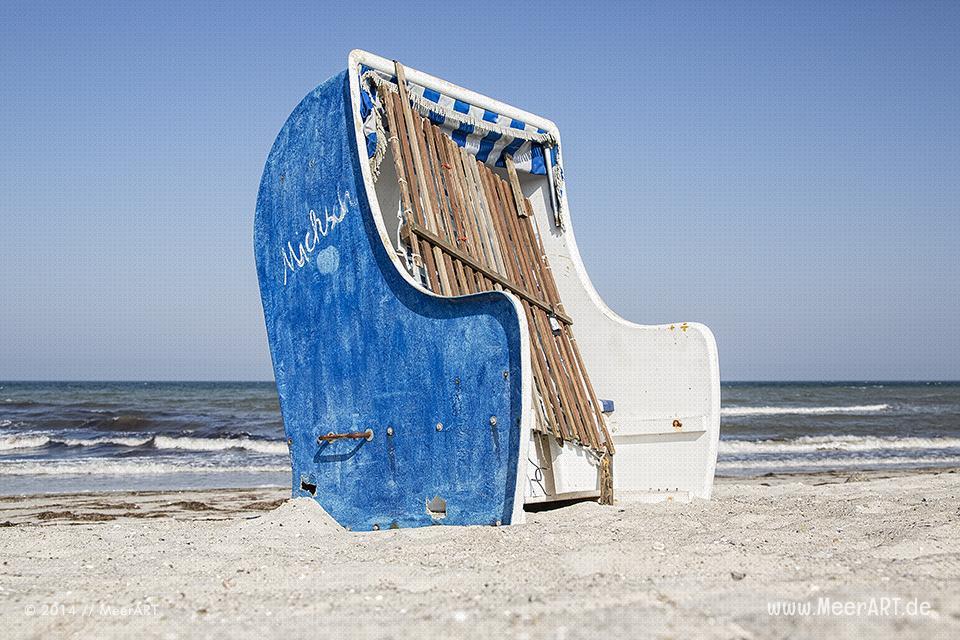 Strandkorb an der Ostsee am Strand von Schönberg-Kalifornien // Foto: MeerART