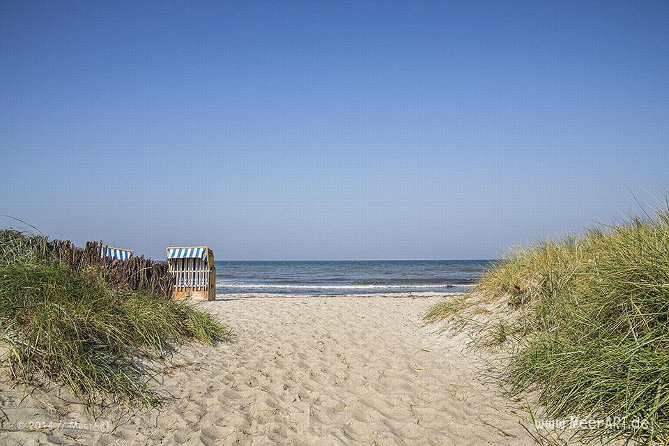 Strandaufgang an einem Strandabschnitt in Schönberg-Kalifornien // Foto: R. Kerpa
