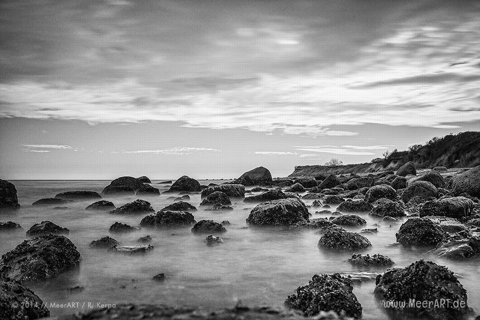 Strandabschnitt bei Staberhuk auf der Ostseeinsel Fehmarn // Foto: Ralph Kerpa