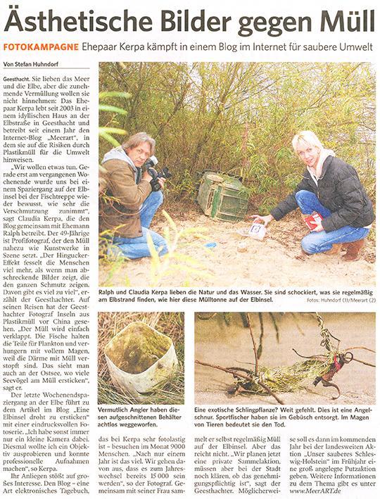 Artikel von der Lauenburgischen Landeszeitung