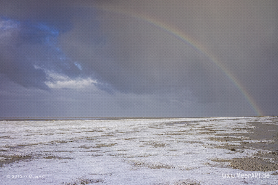 Winterimpressionen vom Nordseestrand in St. Peter-Ording // Foto: MeerART