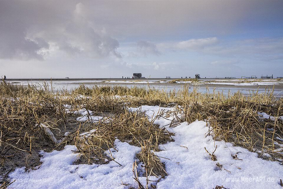 Winterimpressionen vom Nordseestrand in St. Peter-Ording // Foto: R. Kerpa