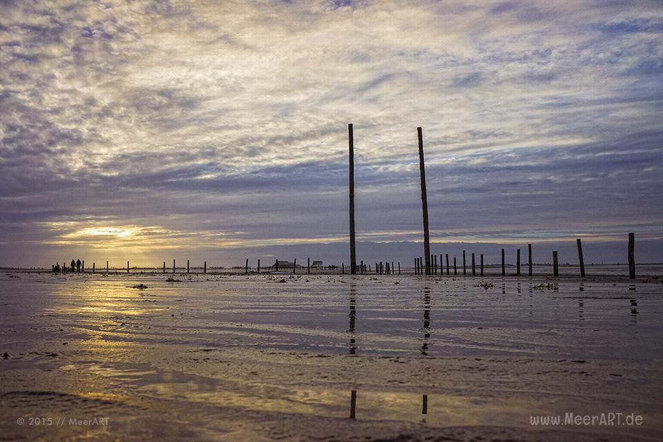 Abendstimmung an einem Wintertag am Strand von St. Peter-Ording // Foto: R. Kerpa