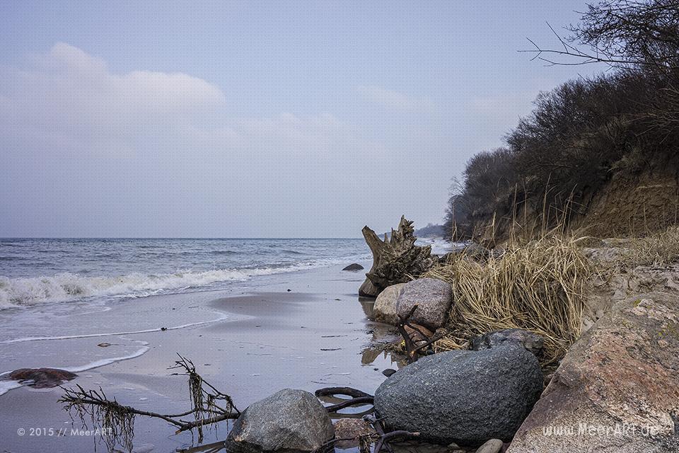 Impressionen von einem Wintertag auf der Halbinsel Priwall im Osten Schleswig-Holsteins // Foto: MeerART