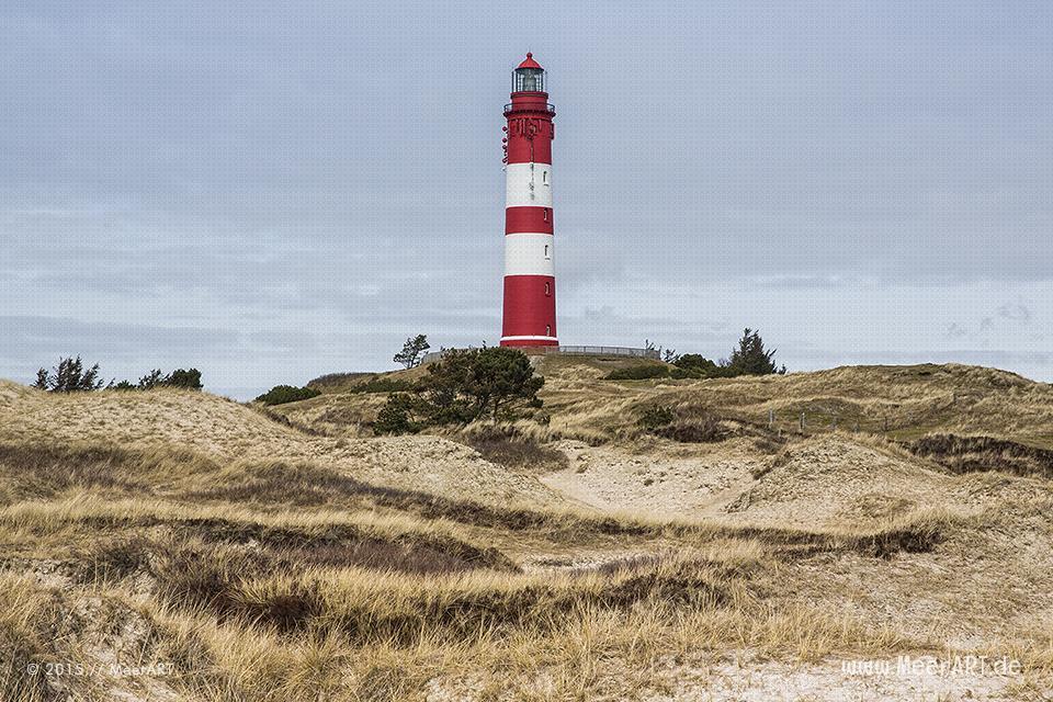 Der Leuchtturm auf Amrum, eines der Wahrzeichen der wunderschönen Nordseeinsel // Foto: MeerART