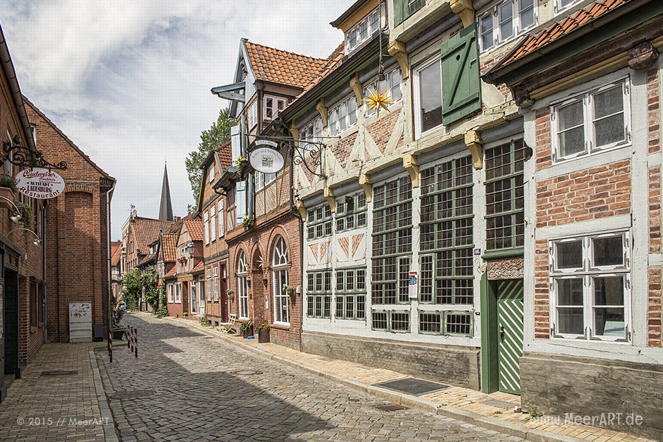 Impressionen aus der idyllischen Altstadt von Lauenburg // Foto: MeerART