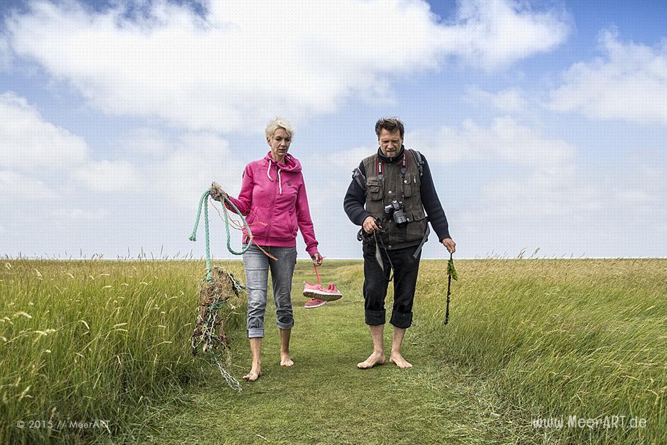 Führung mit Biologen Rainer Schulz von der Schutzstation Wattenmeer // Foto: MeerART
