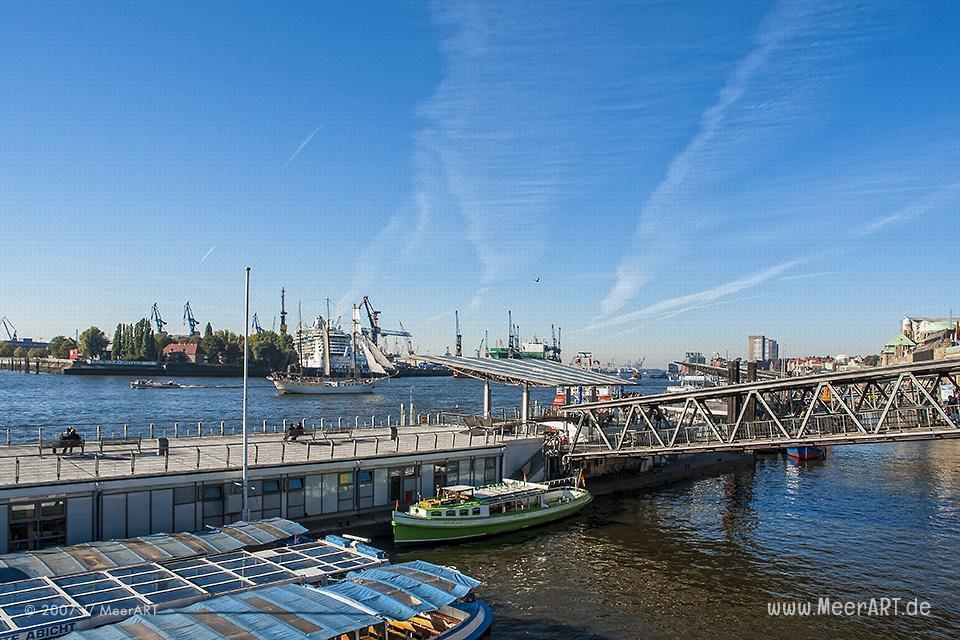 Blick auf den Hamburger Hafen // Foto: MeerART