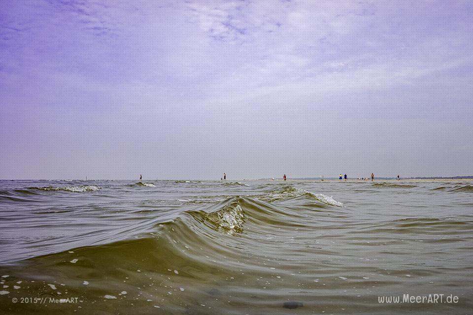 Ein wunderschöner Tag im August am Strand in St. Peter-Ording // Foto: MeerART