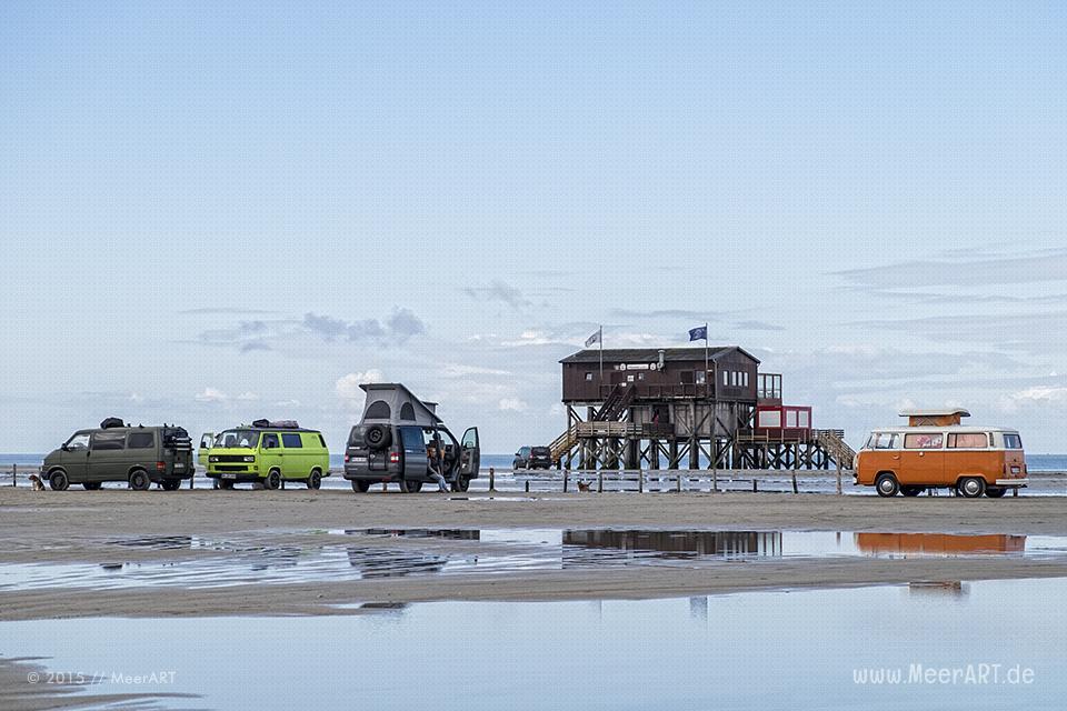 Bullis am weitläufigen Strand von St. Peter-Ording // Foto: MeerART